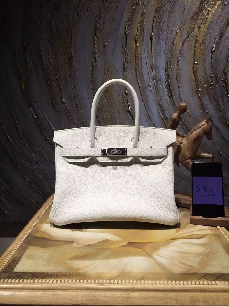 0b758bf94899 Replica High Quality Hermes Birkin 35cm Togo Calfskin Bag Handstitched  Palladium Hardware