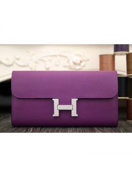 Replica Hermes Constance Wallet In Purple Epsom Leather RS02878
