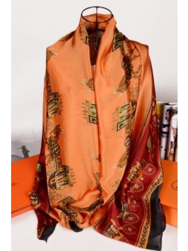 Hermes Silk Scarf Orange RS16445