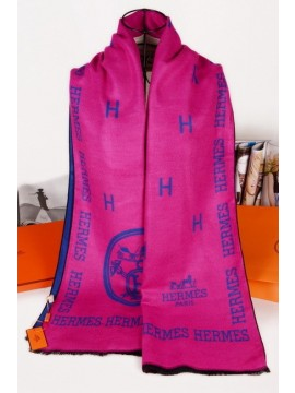 Imitation Hermes Winter Wool Scarf Rose Pink RS20803