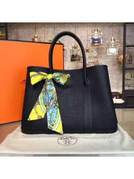 Hermes Garden Party 36cm Togo Calfskin Leather Palladium Hardware High Quality, Black RS20479